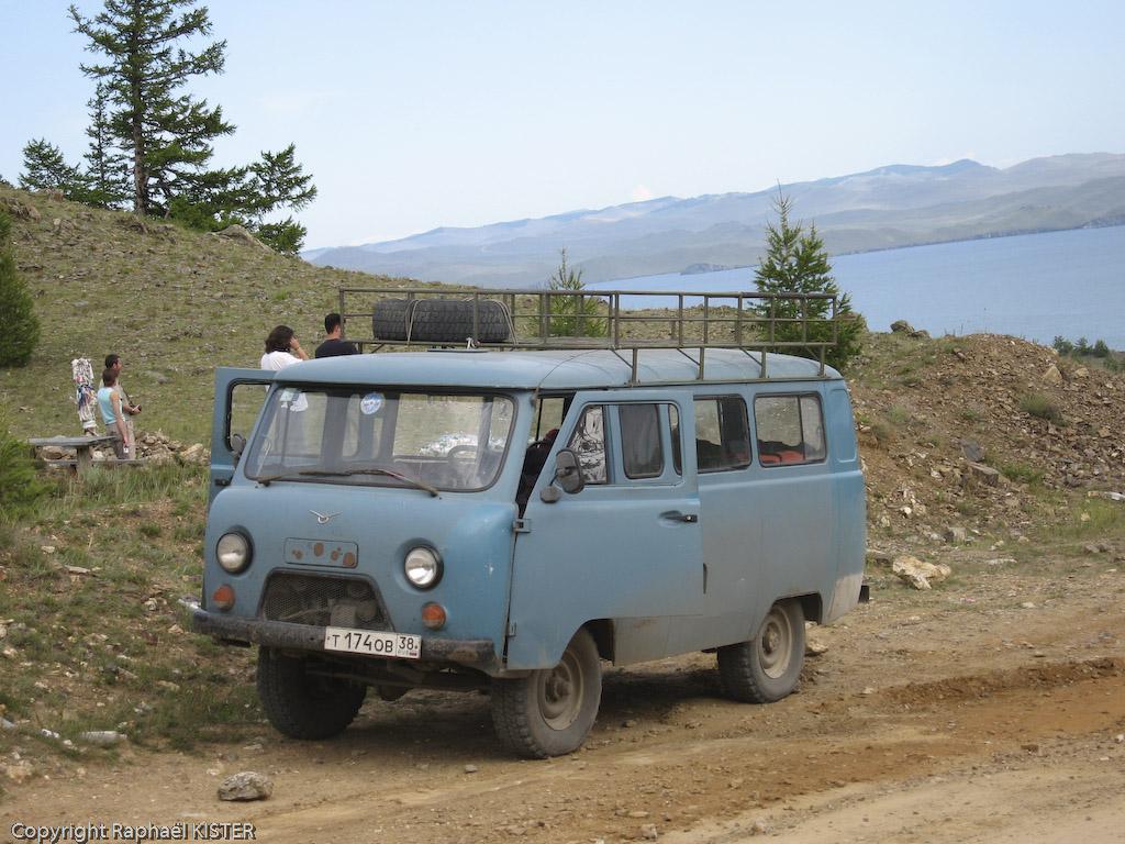 La camionette du frère d'Alexey, qui nous as accompagné sur le trek