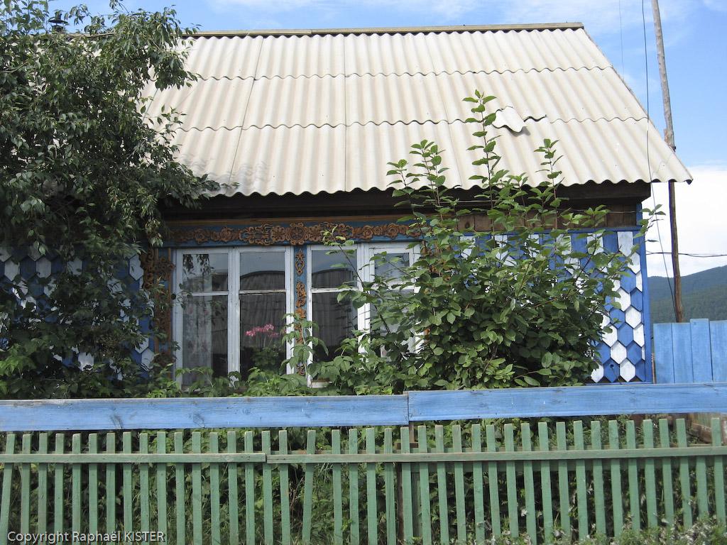 Maison dans un village Bouriate