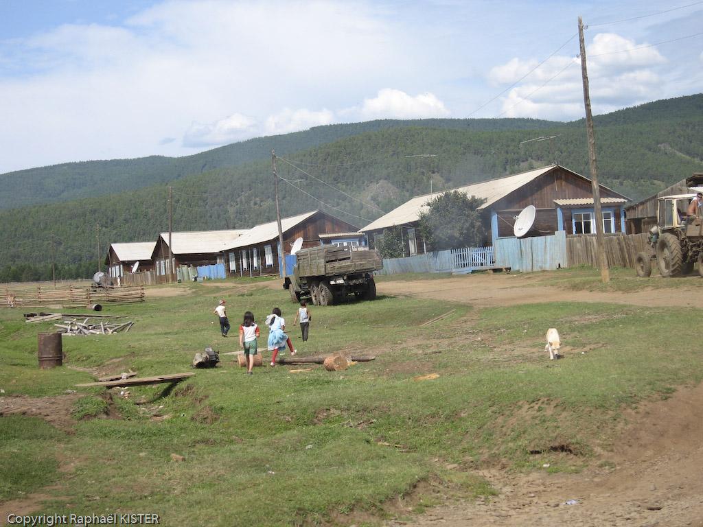 Aperçu d'un village Bouriate