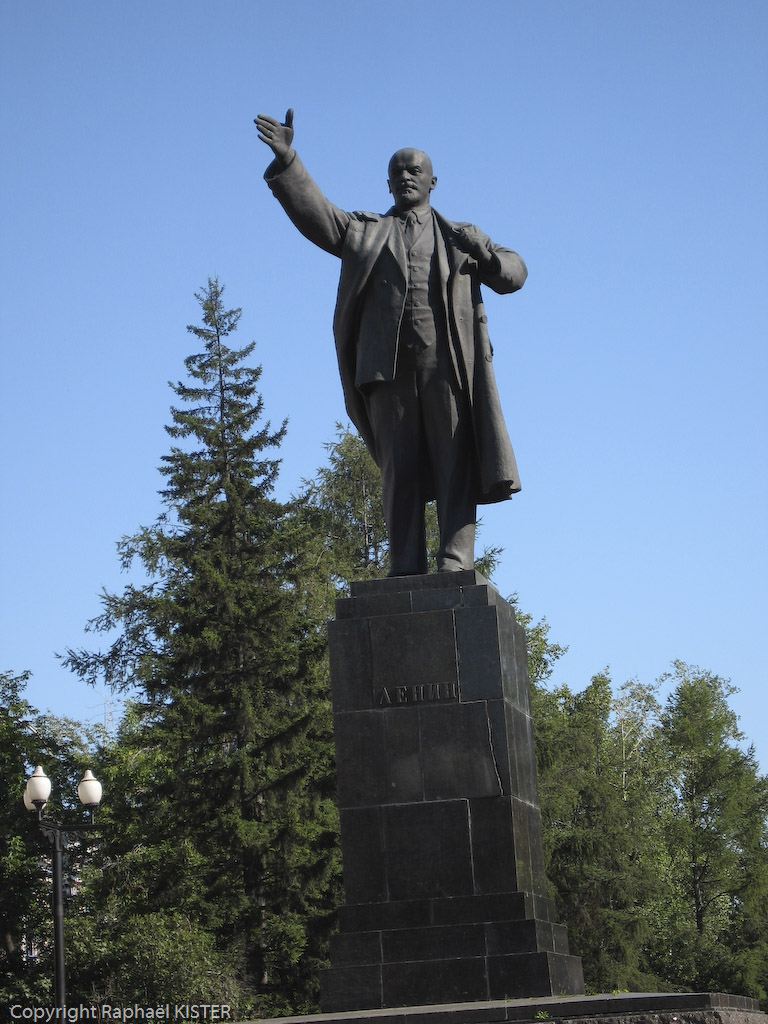 Statue de Lénine dans le centre-ville d'Irkoutsk