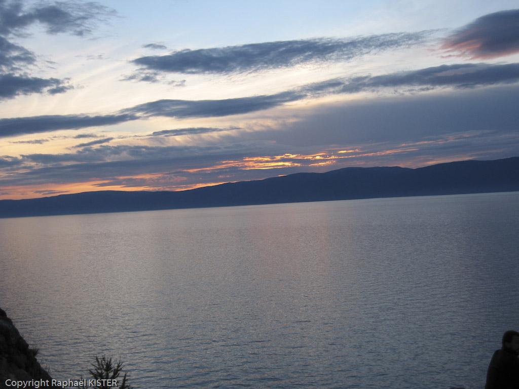 Coucher de soleil sur le Lac Baïkal