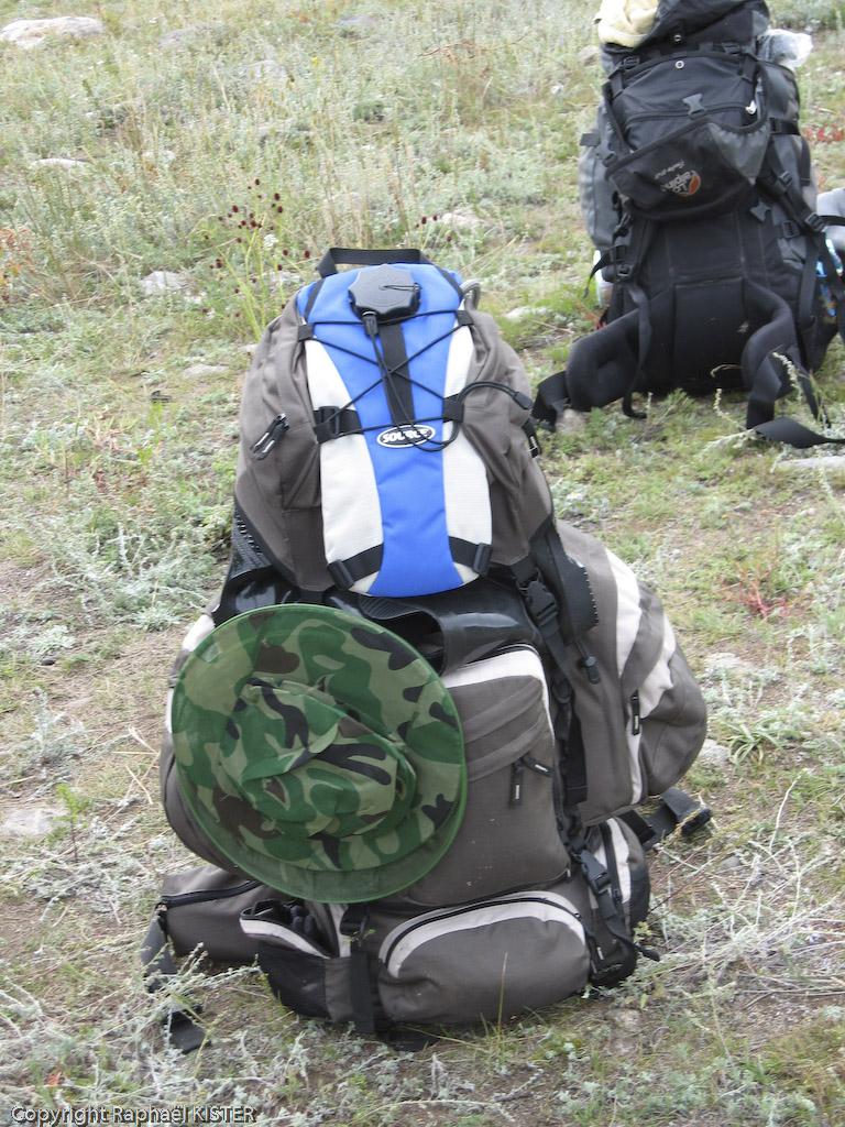 Mon sac à dos juste avant le départ du trek (15 kg)