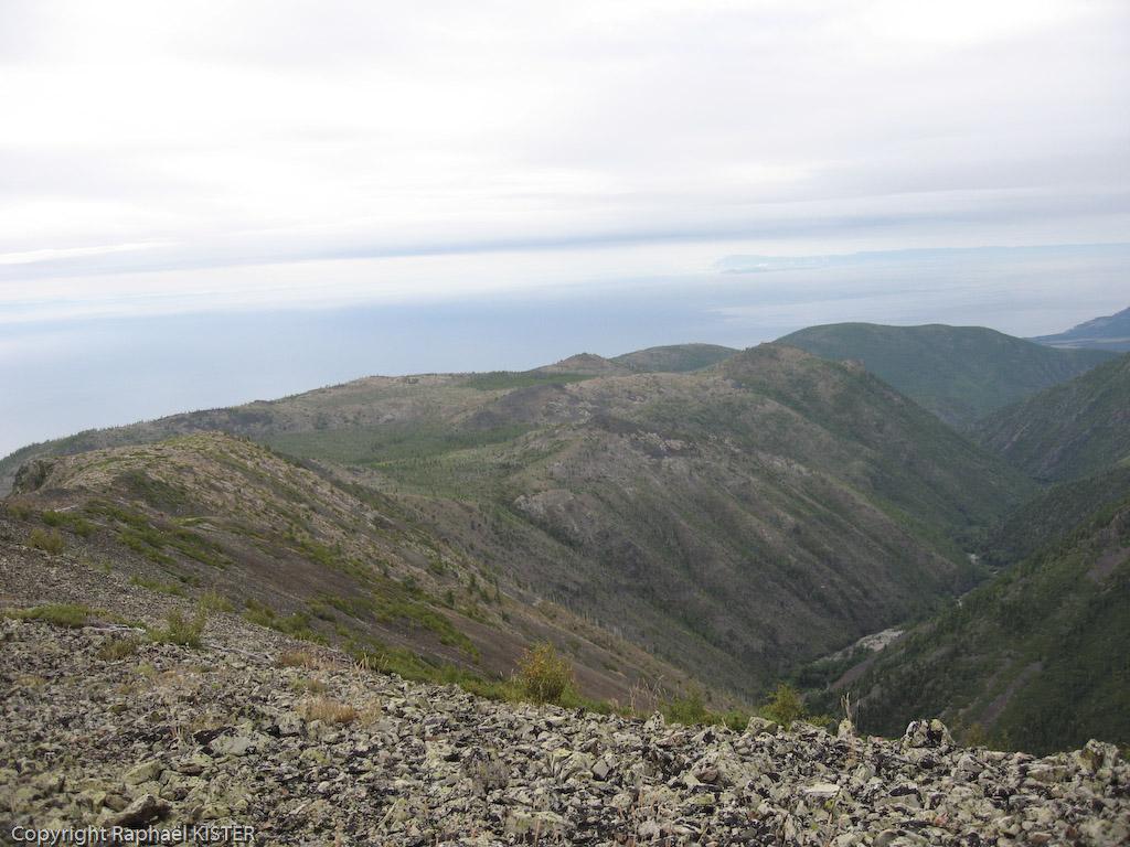 Aperçu du Lac Baïkal depuis les crêtes - 6e jour