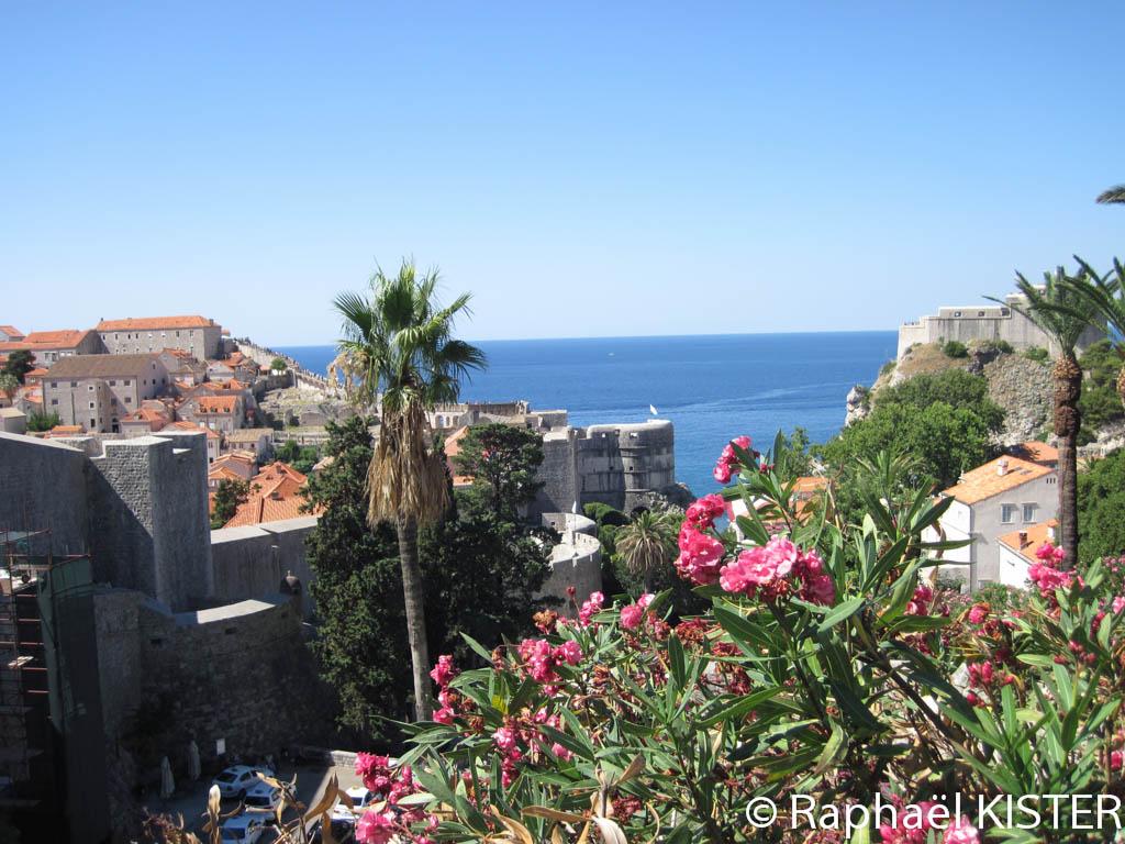 Aperçu de l'enceinte de Dubrovnik