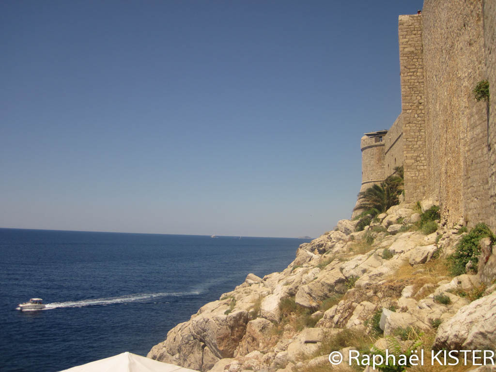 Aperçu des remparts de Dubrovnik