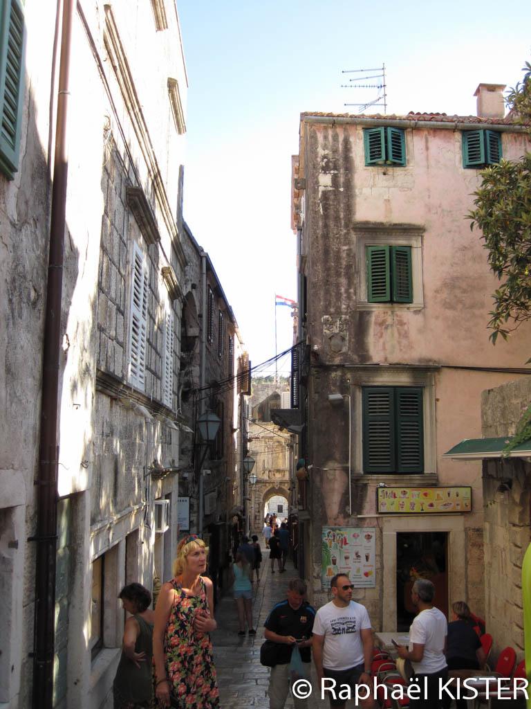 Rue au centre de Korcula