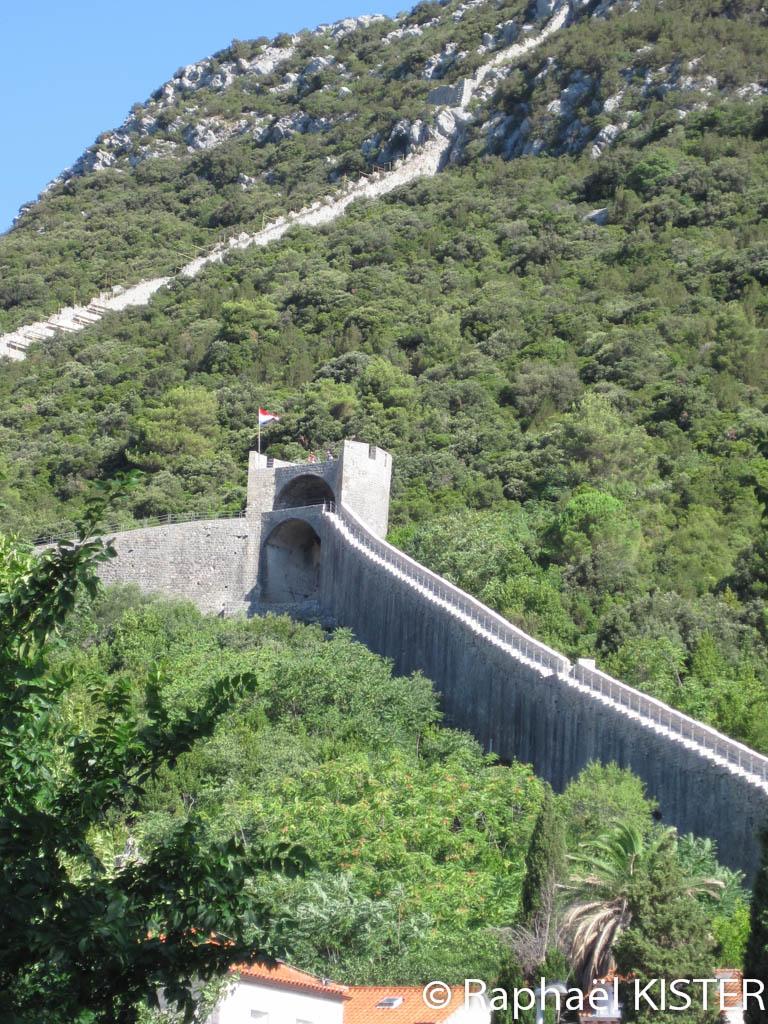 La muraille de Chine en europe, à Ston sur la presqu'île de Peljesac