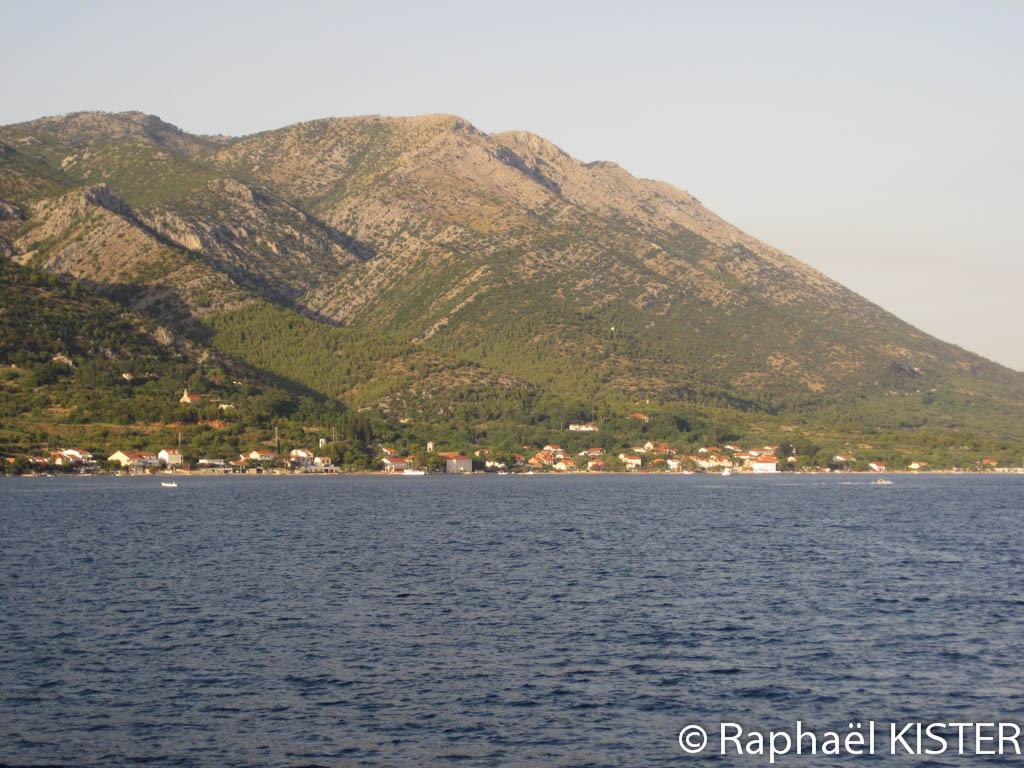 Aperçu de Kuciste, sur la presqu'île de Peljesac