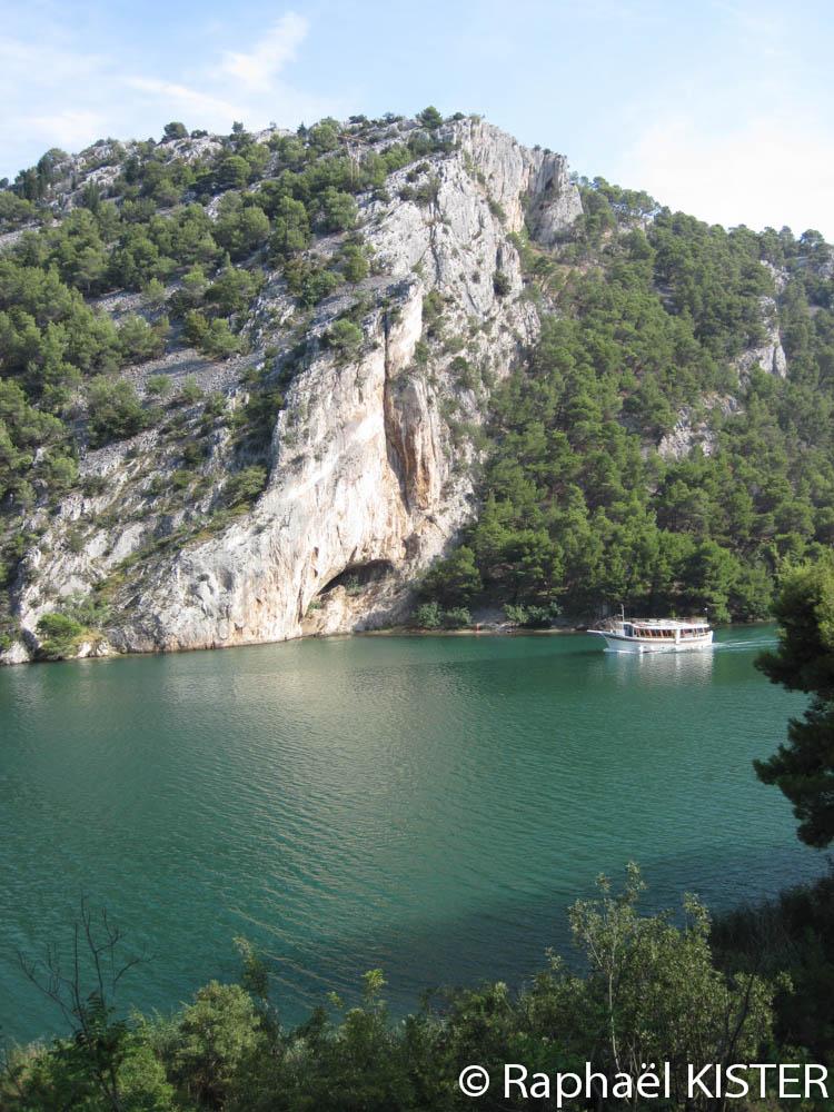 Falaises bordant la rivière Krka