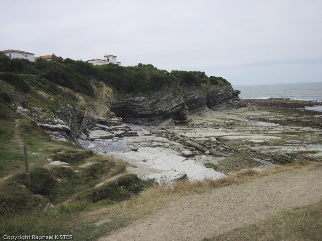 Aperçu du littoral entre Guéthary et Saint-Jean de Luz et notamment des mouvements de la croute terrestre