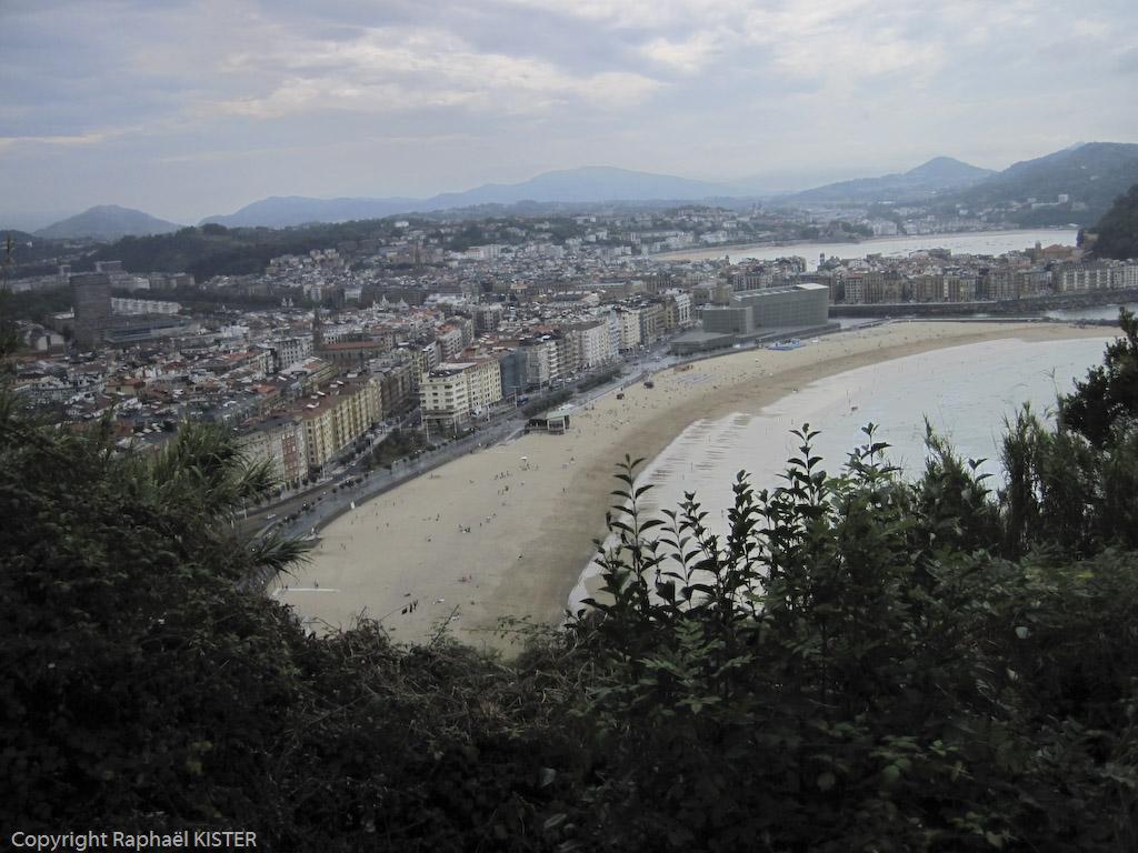 Aperçu de San-Sébastien, plage des surfeurs