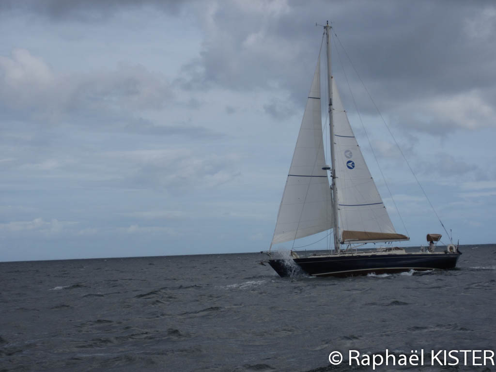 Voilier allant vers Falmouth
