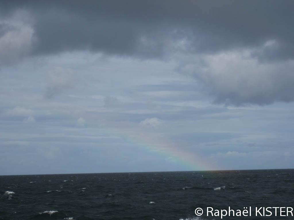 Un arc en ciel en face de Falmouth