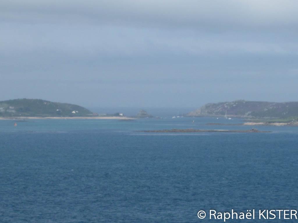Vue depuis le fort surplombant le port de Sainte-Mary